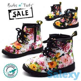 Floral Flower Boots Baby Toddler All Sizes Worldwide Delivery, photo 1