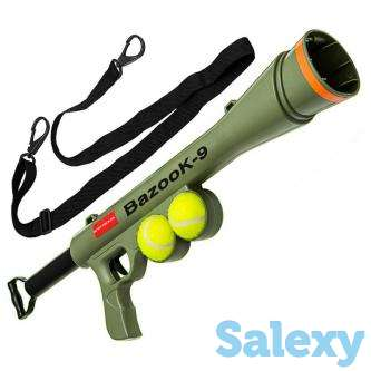 Paws & Pals Ball Gun Launcher Dog Toy, Olive Drab, photo 1