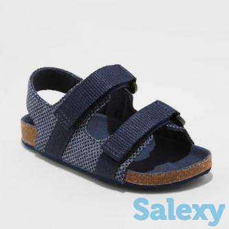 Toddler Boys' Stanley Footbed Sandals - Cat & Jack Navy S, …, photo 1