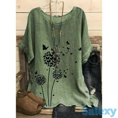 Floral Round Neck Half Sleeve Casual T-shirts (01685693595), photo 1