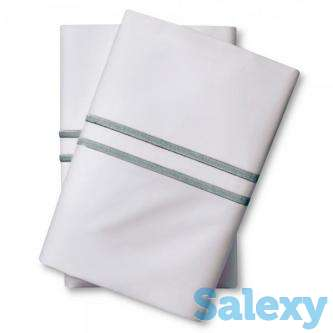 Supima Hotel Pillowcase Set (King) Aqua Spill - Fieldcrest, photo 1