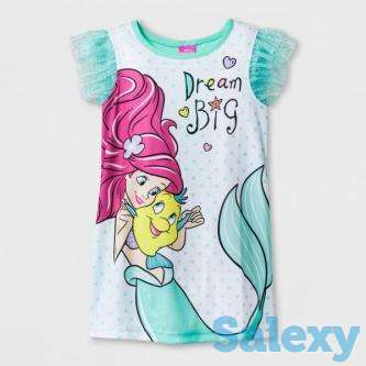 Toddler Girls' Disney The Little Mermaid Nightgowns - Blue 4T, photo 1
