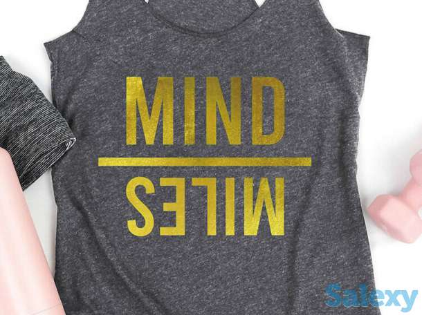 Tank Tops Mind Miles Running Workout Tank Top in Dark Grey. Size: S,M,L,XL, photo 2